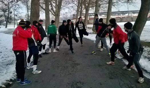 Készülnek a focisták is